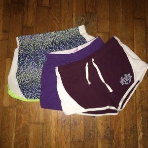 Girls Athletic Shorts Bundle (Pink,Soffe,Danskin)